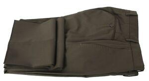 e7ae1f8cf614 Incotex BENSON Pants Trousers Super 100S Khaki Green FLAT FRONT Wool ...