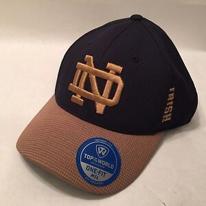 Notre Dame Irish Hat   Cap Fitted Memory Fit Top of the World Gold ... 1170d4d7971