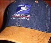 Usps, Baseball / Golf Cap / Hat, United States Postal. Denim Blue