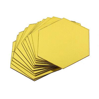 Wholesale 12Pcs 3D Mirror Hexagon Vinyl Removable Wall Sticker Decal Home Decor