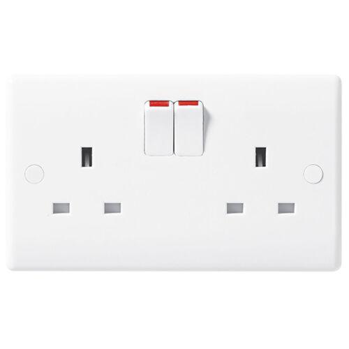 BG Electrical Nexus 2 Gang White Moulded Socket Outlets