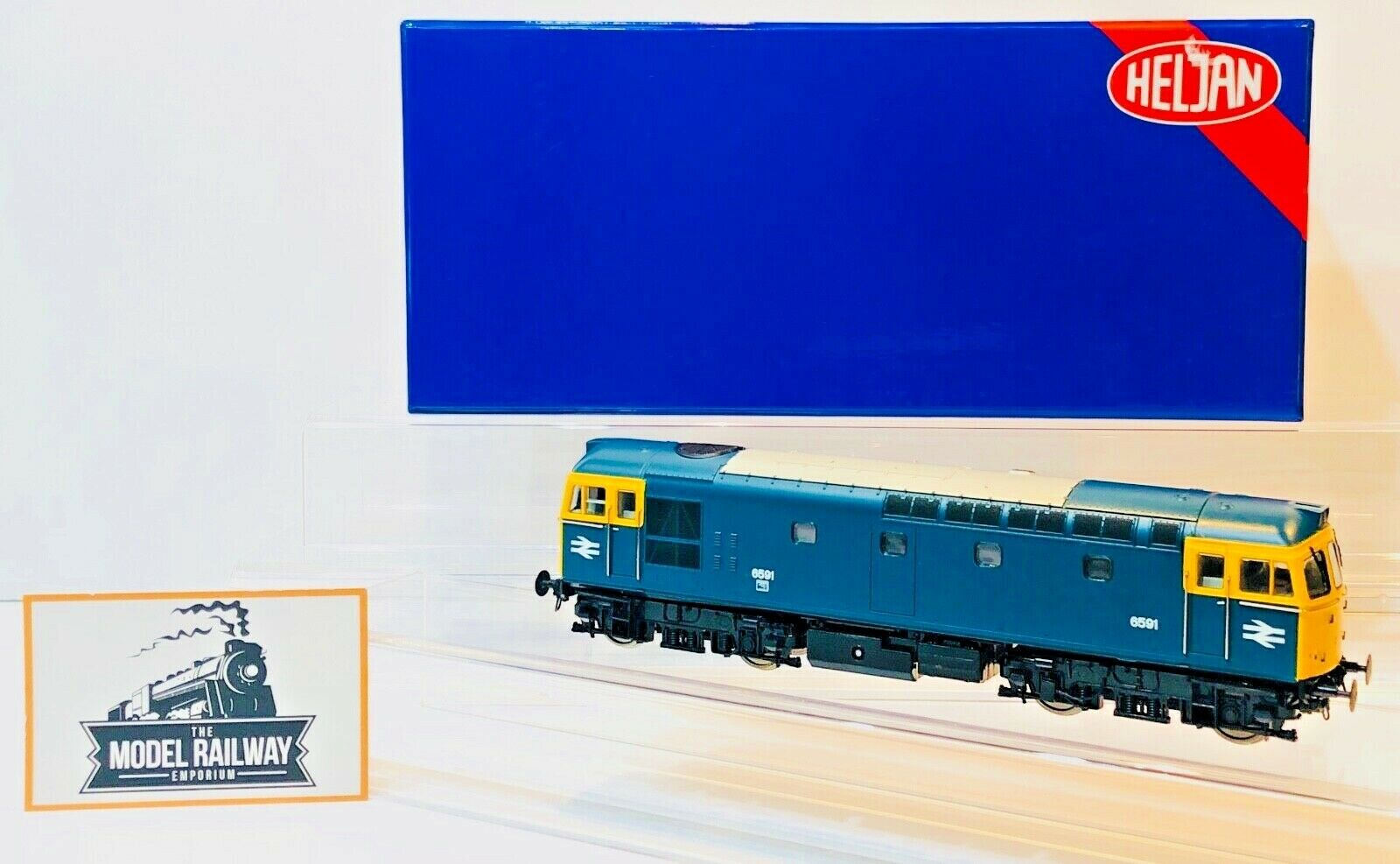 HELJAN 00 GAUGE - 3322 - CLASS 33 DIESEL 6591 BR Blau Gelb ENDS BOXED