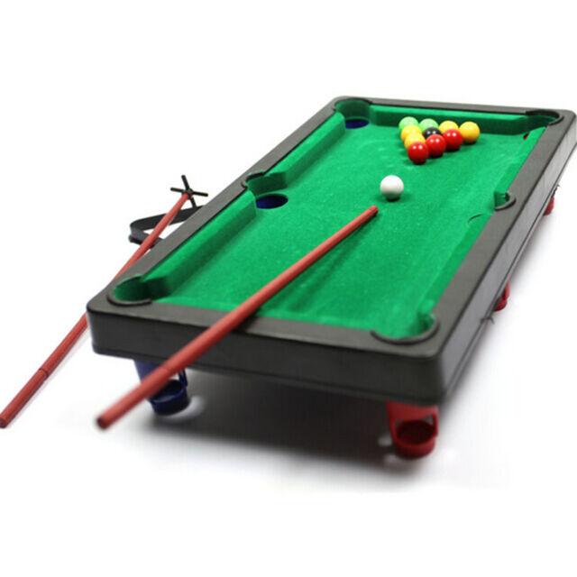 Superieur Mini Pool Table Flocking Desktop Simulation Billiards Table Set Balls Toys  3AA