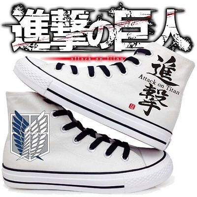new Anime Shingeki no Kyojin Attack on Titan Canvas Unisex Sneakers Casual Shoes