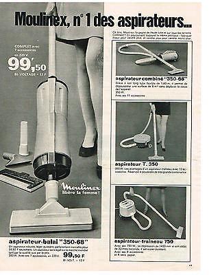 Publicite 1969 moulinex vacuum cleaners