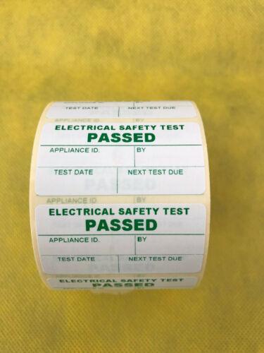 100 Pegatinas de Pat paso de la prueba pasaron pruebas de dispositivo portátil Etiquetas Etiqueta 50x25
