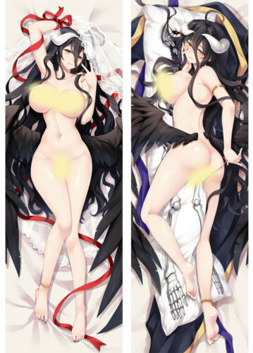 "59/""OVERLORD Albedo Anime Game Otaku Dakimakura Hug Body Pillow Case 150*50cm"