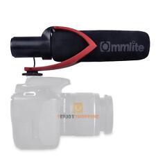 Commlite Camera Mounted Condenser Shotgun Mic Microphone For Canon DSLR Video