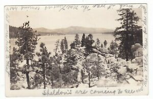 1927-RPPC-FAWNSKIN-CA-BIG-BEAR-LAKE-PANORAMIC-VINTAGE-POSTCARD-CALIFORNIA-PHOTO