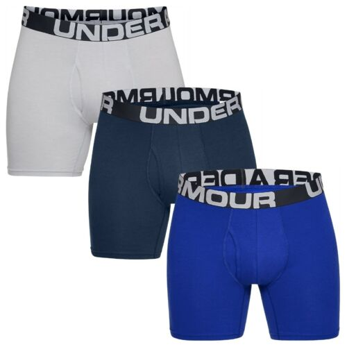 "Under ARMOUR Charged Cotton 6/"" Boxerjock 3 Pack Boxer Short 1327426-400"