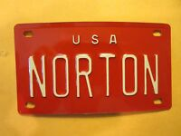 Personalized U S A NORTON Mini Bike Vanity Name License Plate