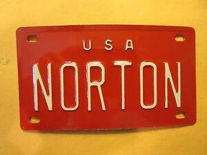 Personalized-U-S-A-NORTON-Mini-Bike-Vanity-Name-License-Plate