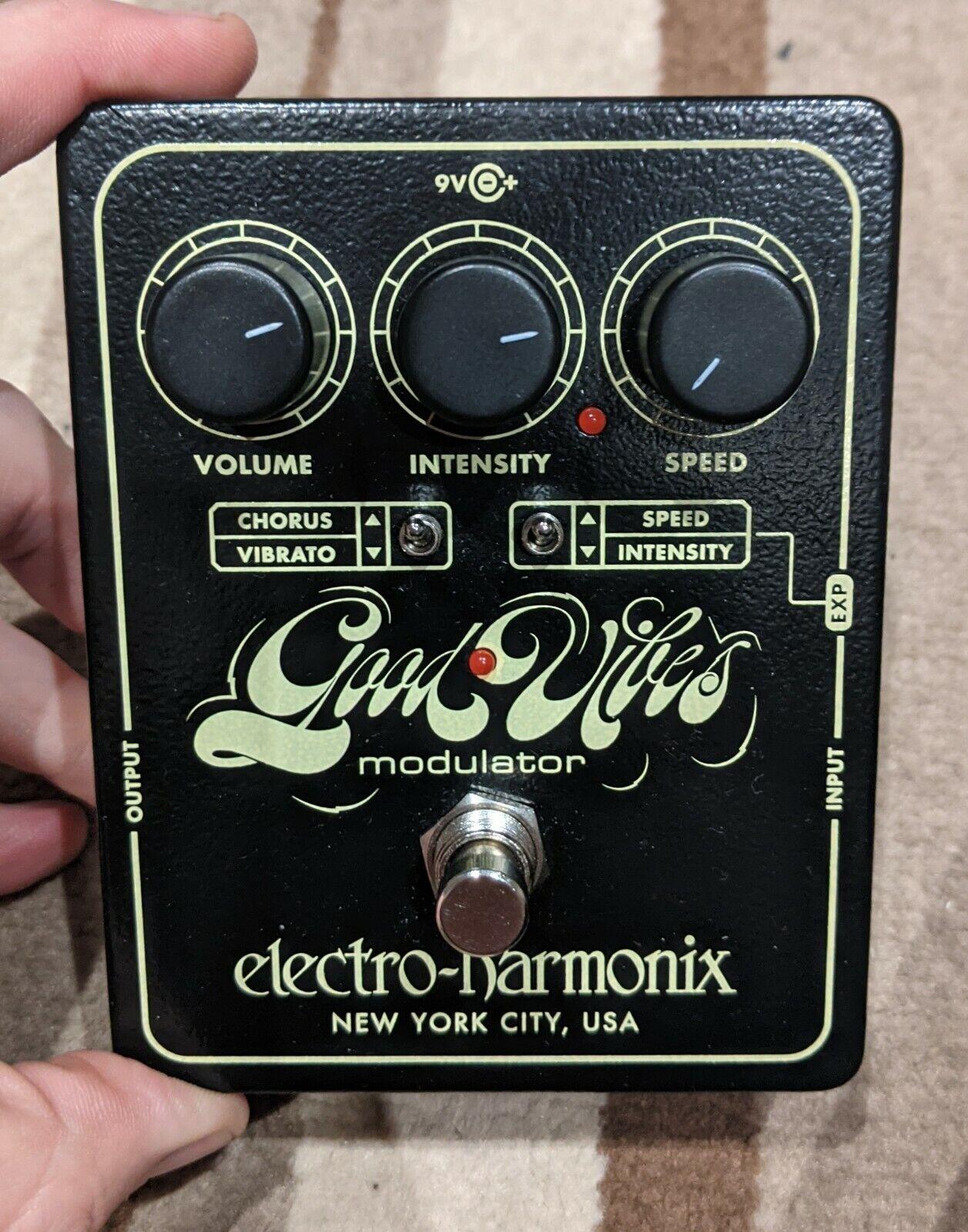 EHX Electro Harmonix Good Vibes Analog Modulator Univibe Guitar Effects Pedal