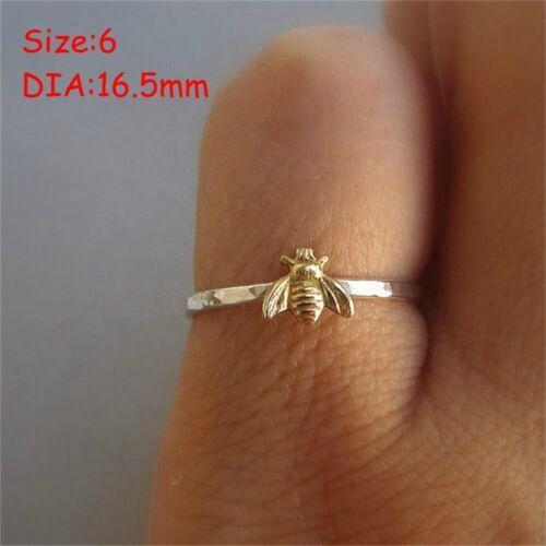 charme la mode bee doigt ring le charme des bijoux plaqué or schéma d/'insectes