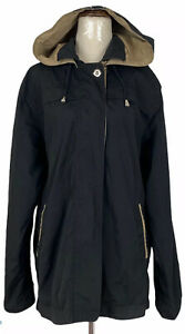 Sanro Womens Black/Brown Zipper Front Fully Lined Jacket Size 12