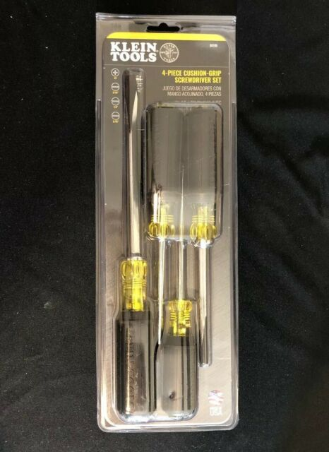 Klein Tools 4-Piece Cushion-Grip Screwdriver Set - (Model 85105)