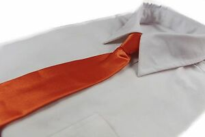 CHEAP-ORANGE-TIE-Boys-Kids-Baby-Toddler-School-Ties-FORMAL-WEDDING-SALE