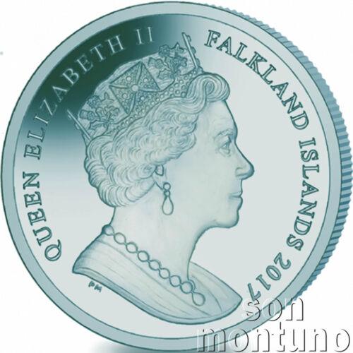 2017 PATAGONIAN TOOTHFISH Blue//Green TITANIUM Coin in BOX+COA Falkland Islands