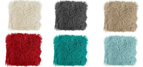 Luxury Super Soft Faux Fur Shaggy Mongolian Scatter Cushion Covers 43 x 43 cm
