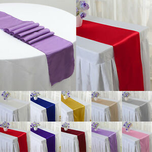 X raso runner da tavolo decorazioni festa di matrimonio ebay - Runner da tavolo ...