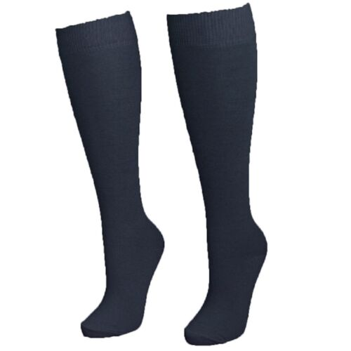 3 x Kid Girls Cotton Rich Knee High Long Length School Socks