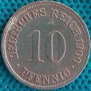 Moneda-Monedas-Alemania-1900-Ff-10-Peniques-Ref-0287