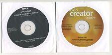 (2) DELL CD's - ROXIO CD CREATOR & CYBERLINK POWERDVD 8.1 SOFTWARE - SEALED !!
