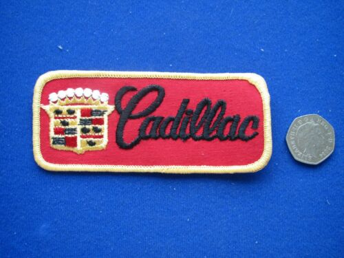 Cadillac Sew//Stick on  Embroidered Cloth Badge//Patch    1980/'s