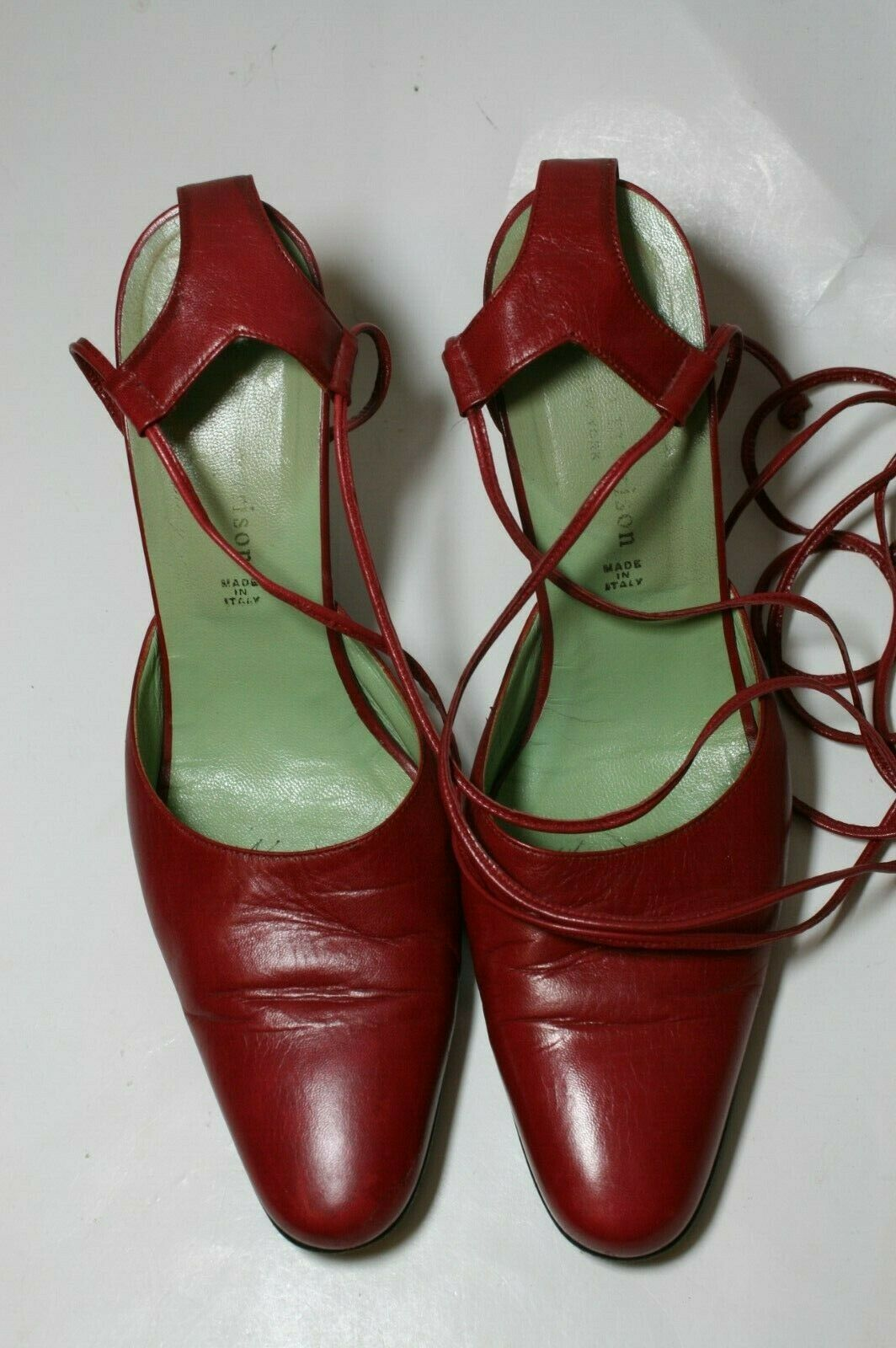 SIGERSON MORRISON SHOES RED LEATHER ANKLE WRAP PU… - image 5