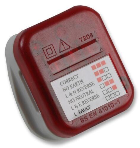 Enchufe en el Reino Unido Enchufe Tester verificador de seguridad de cableado de red de Reino Unido Con Luz Led Pantalla