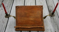 antique vintage wood brassfamily bible stand ONE OF A KIND