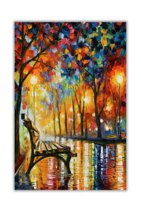 AT54378D Rainy Wedding By Leonid Afremov Oil Painting Re-Print Abstract Poster