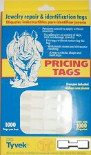 1000 Tyvek Sq Dumbell Ring Price Pricing Tag Jewelry repair & ID Tag w/FREE Pen