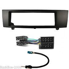 Bmw Serie 3 E90 2005 - 2012 Negro Single DIN Panel Facia del paquete Kit