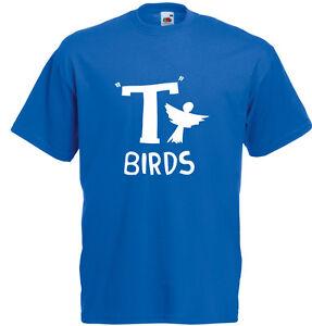 T-Birds-Grasso-Ispirato-Uomo-T-Shirt-Stampata