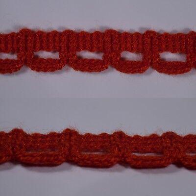 2m 18mm aqua blue braid trim vintage ribbon lace sewing edging upholstery crafts