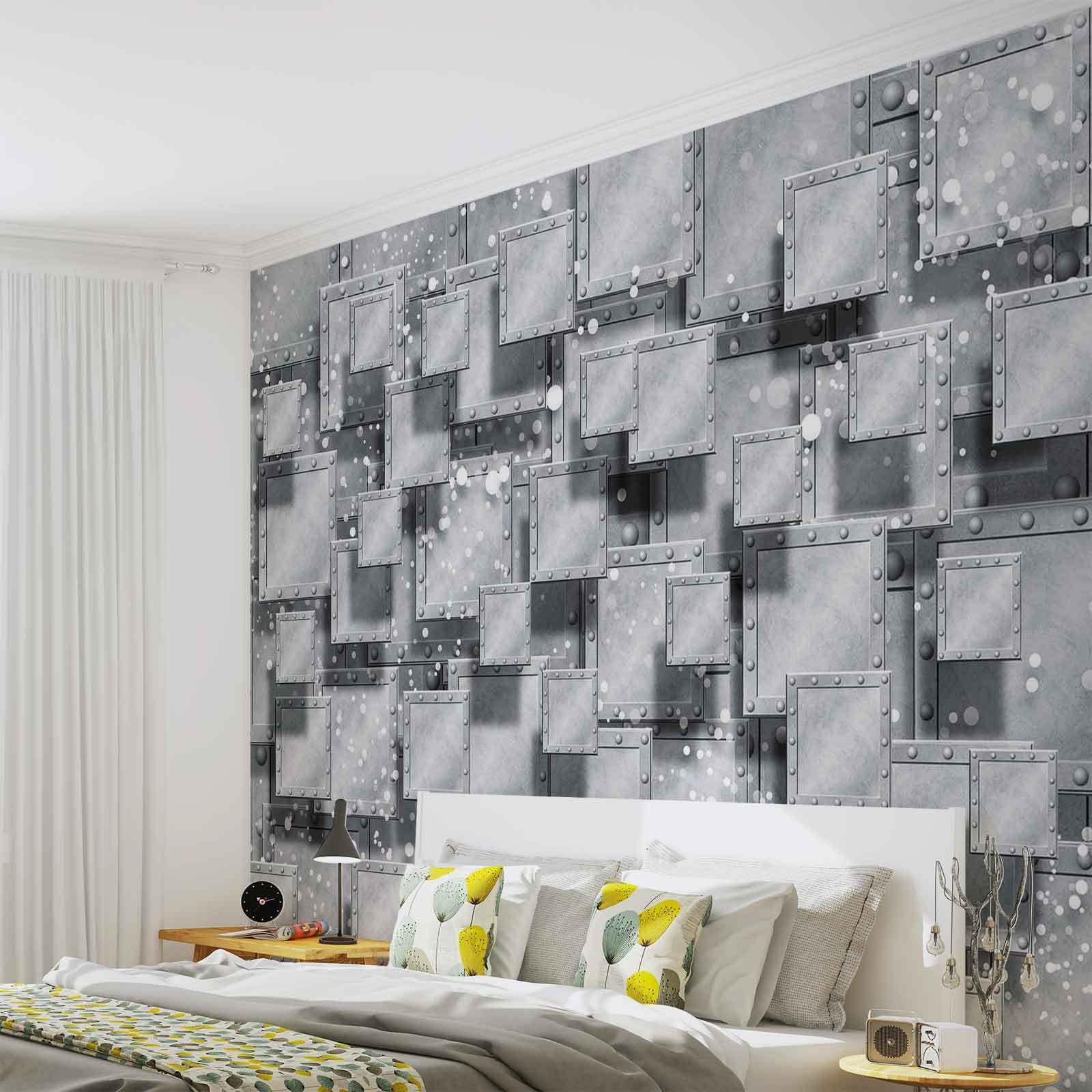 VLIES FOTOTAPETE Abstrakt Modern Grau Silber  TAPETE MURAL (3029FW)