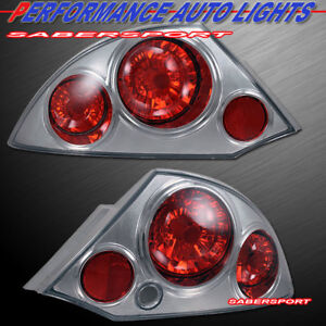 2000 2001 2002 Mitsubishi Eclipse GT Chrome Tail Lights Lamps 1 Pair