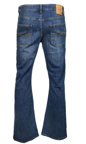Men/'s LCJ Denim Flare Stretch Indie Jeans 70s Acid W Bell Bottoms LC16 All Sizes