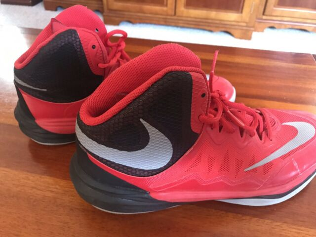 timeless design d203a 84cc7 Nike Men's Prime Hype DF II Basketball Shoes 806941-600 Size 9 Red-Black