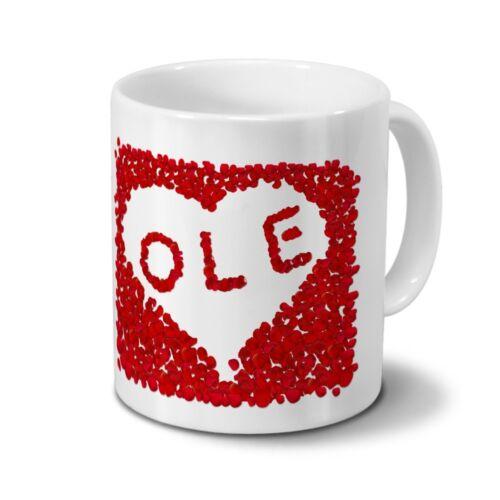 Tasse mit Namen Ole Rosenherz