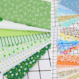 7Pcs-Set-25-25cm-Cotton-Fabric-DIY-Square-Fabric-Sewing-Craft-Cloth-Material