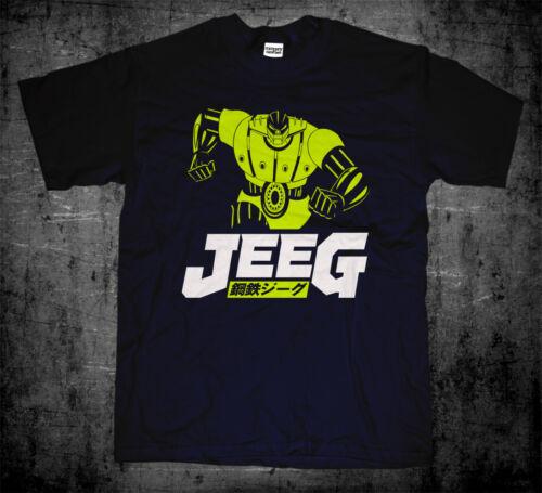 New Japanese Retro Mecha Anime Go Nagai Steel Koutetsu Jeeg Robot T-shirt