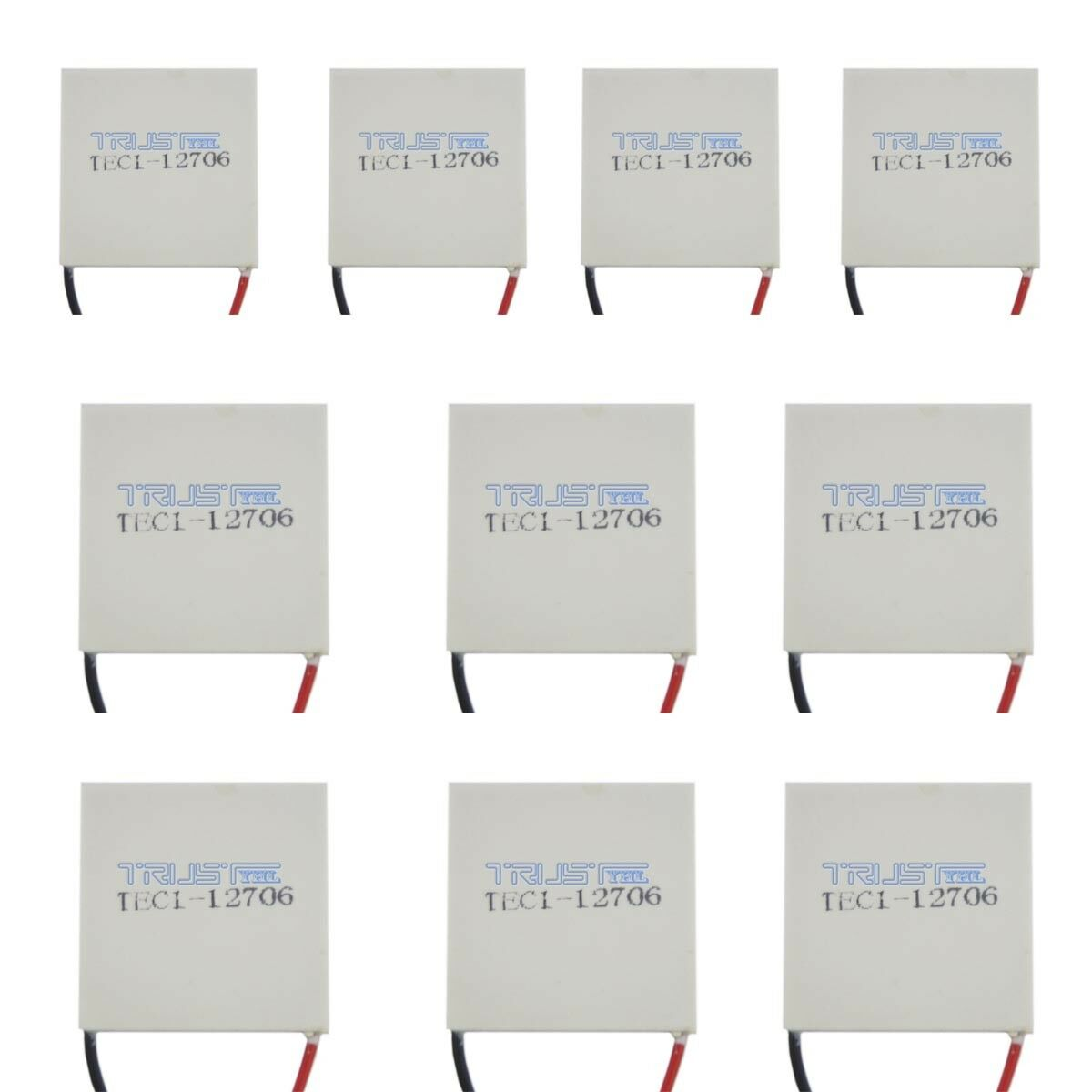 10Pcs TEC1-12706 Thermoelectric Cooler Heat Sink Cooling Peltier Plate...