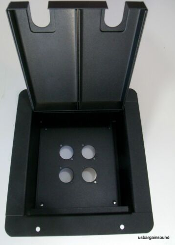 ProCraft Pro Audio Recessed Stage Floor Pocket Box 4 'D' Mount Openings - Black