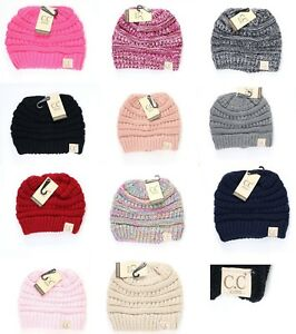 4ffd3f019 Details about Authentic CC Kids Beanie Hats Baby Toddler Ribbed Knit  Children Winter Cap
