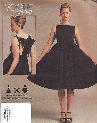 Vogue amerikanisch Designer Nähmuster Kleid aus UK V1102 | eBay