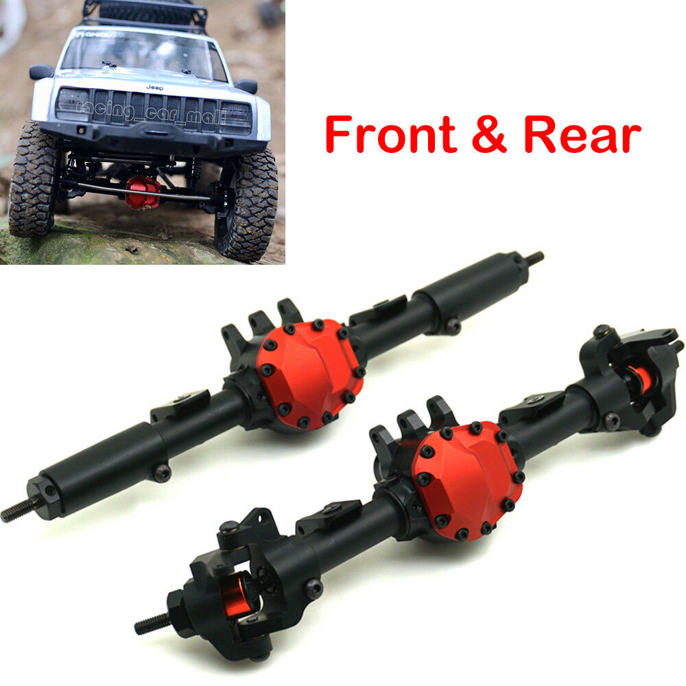 CNC Aluminum Front Axle Rear Axle for AXIAL SCX10 II AX90046 1/10 RC Crawler