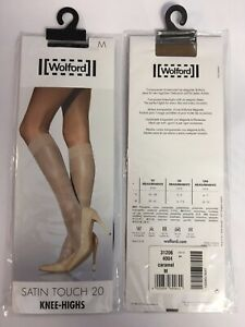28183ed058f WOLFORD Satin Touch 20 Knee Highs - Medium Black - GREAT PRICE ...