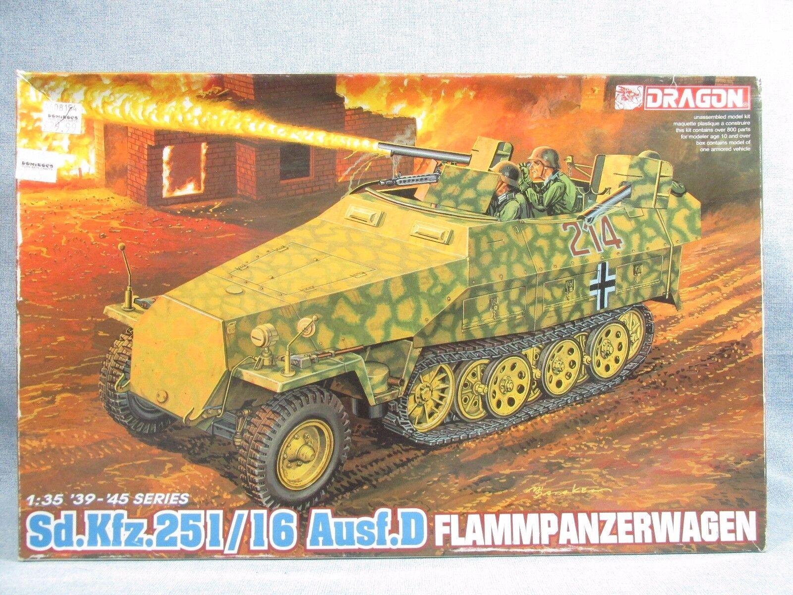 DRAGON model kit 6247 - Open Box - Flammpanzerwagen Sd.Kfz.251 16 Ausf D - 1 35